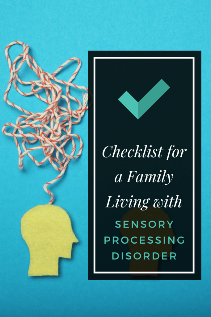 checklist for a family living with sensory processing disorder