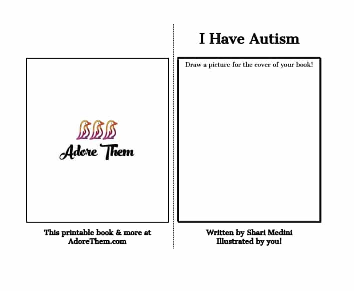 i have autism printable book