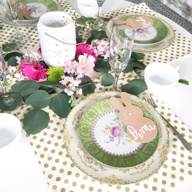 Easter Tablescape Centerpieces