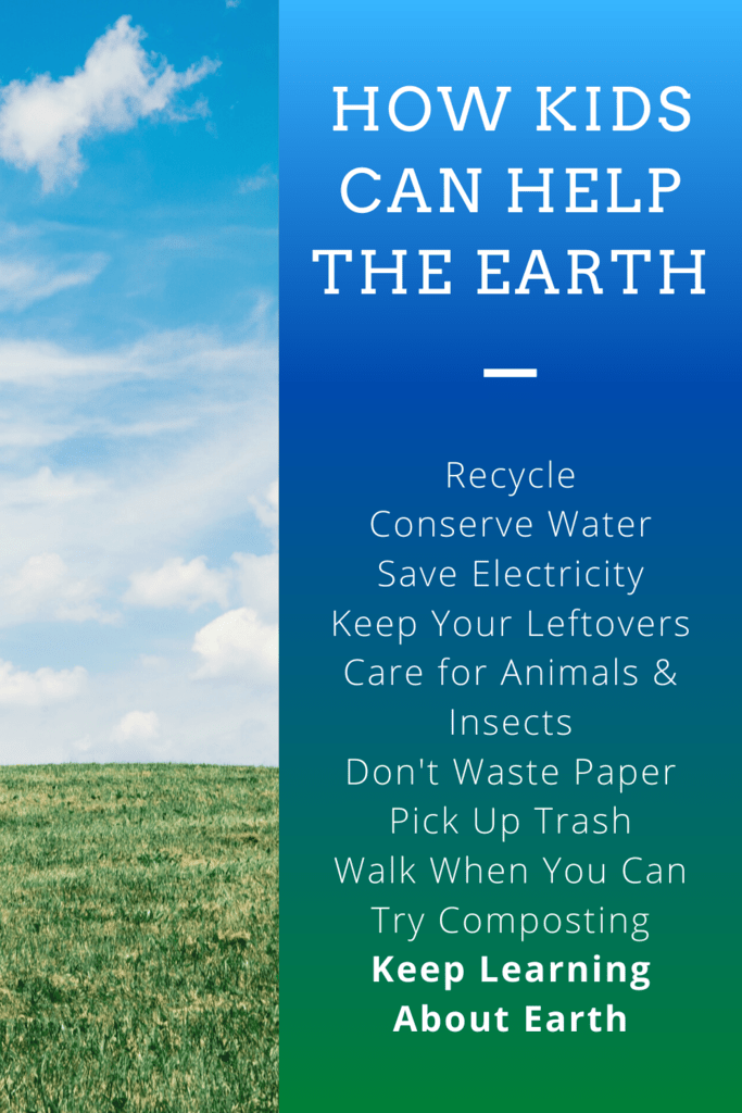 How kids can help the earth