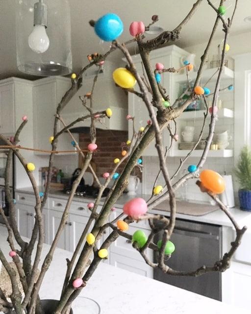 Jelly Bean Tree - cheap Easter decor