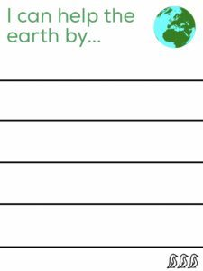 earth day for kids printable