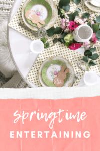 springtime entertaining