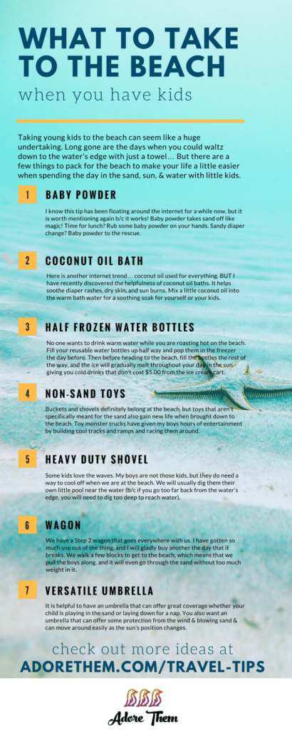What to Take to the Beach infographic
