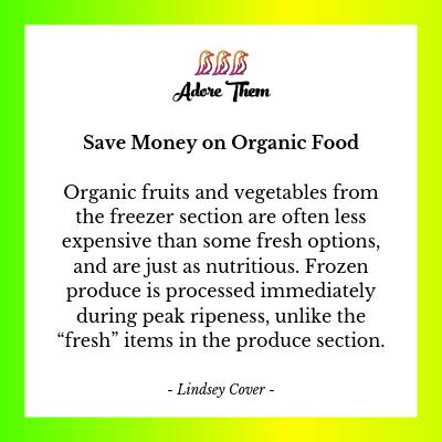 saving money on organic food