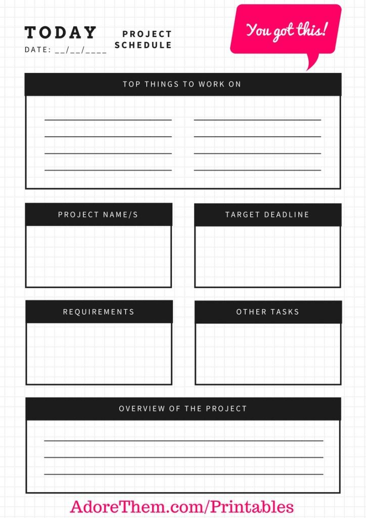 Project Schedule Planner