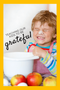 teaching our kids to be grateful