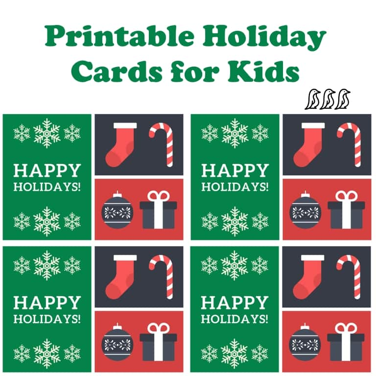 printable holiday cards for kids adore them