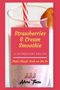 strawberry and cream smoothie recipe
