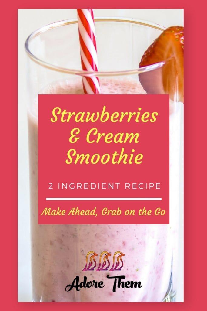 strawberry and cream smoothie recipe