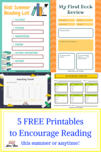 5 FREE Printablesto Encourage Reading