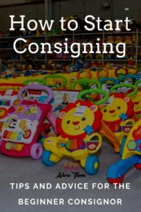 How do I start consigning?