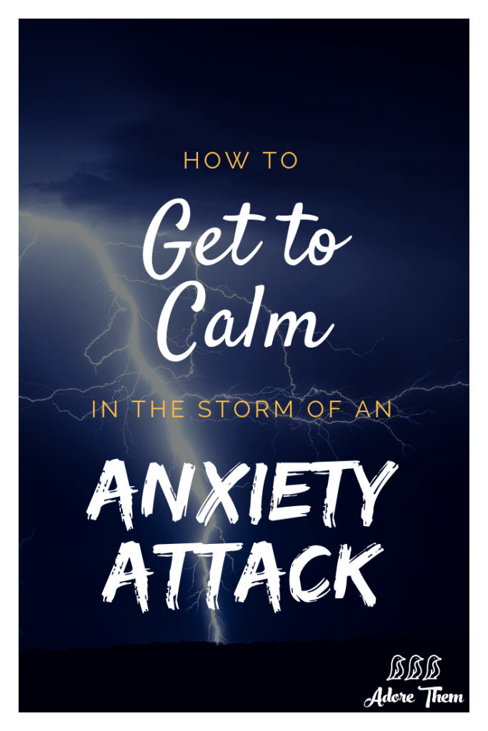 how to calm down from an anxiety attack