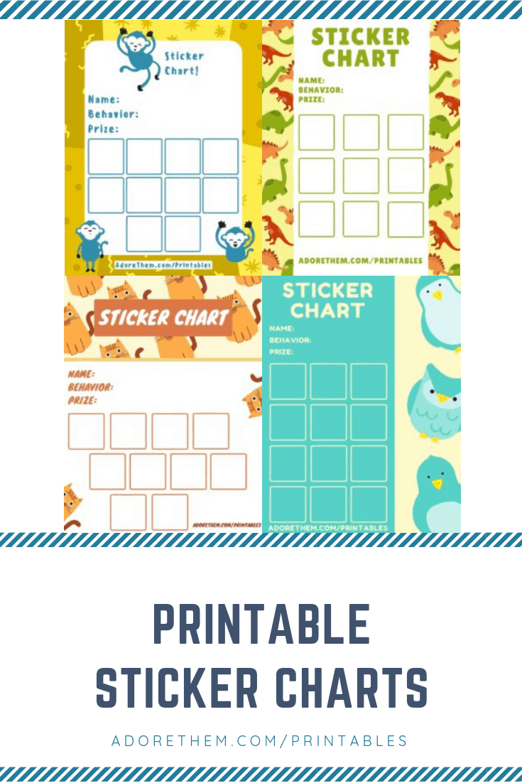 printable sticker charts