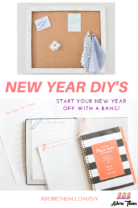 New Year DIY's