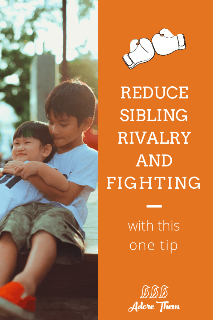 Reduce Sibling Rivalry and Fighting