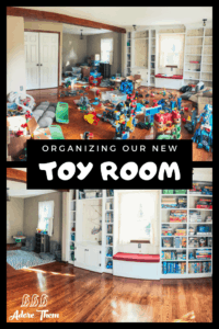 organizing our toy room