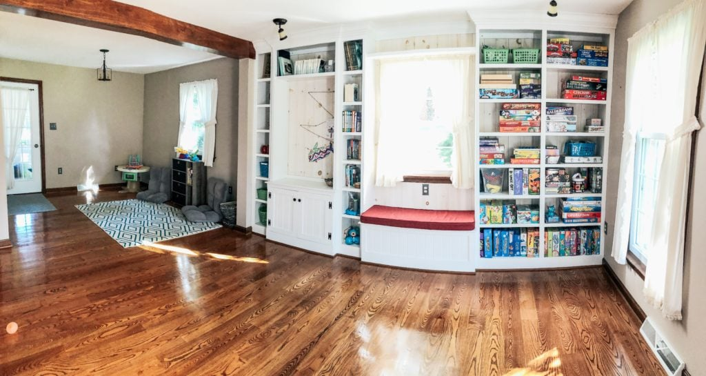 organizing the toy room