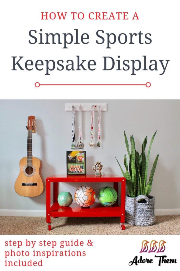 kids sports keepsakes display