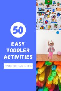 50 easy toddler activities