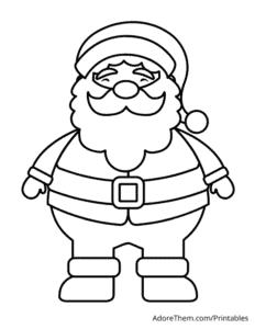 Free Christmas Coloring Pages Santa