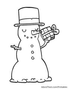 Free Christmas Coloring Pages Snowman