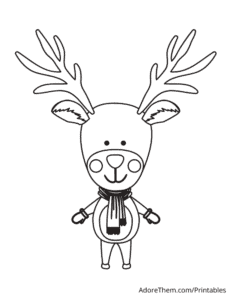 Free Christmas Coloring Pages Reindeer