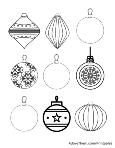 Free Christmas Coloring Pages Ornaments