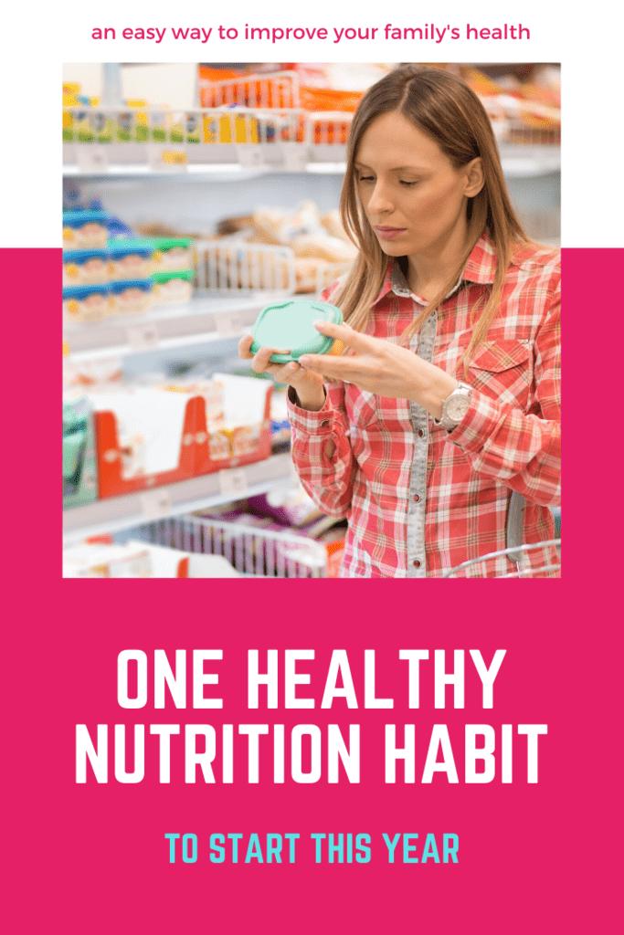 one healthy nutrition habit