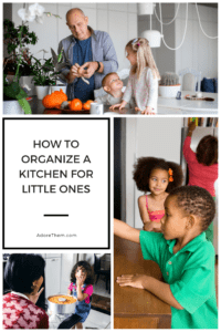 how to organize a kitchen for little children