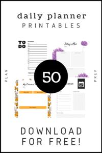 50 free printable calendar daily planner for binder vertical portrait print