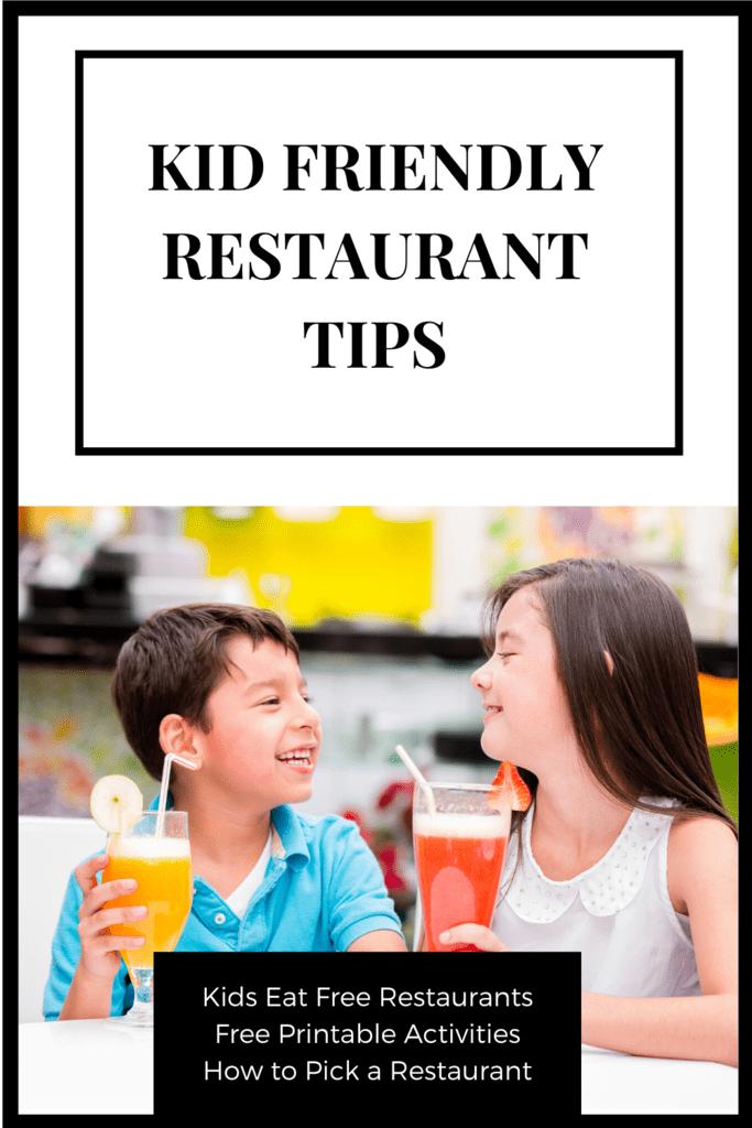 Kid Friendly Restaurant Tips
