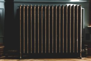 picture of a vintage radiator in a home