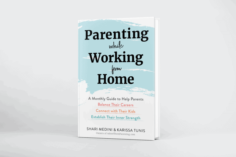 Parenting while Working from Home book mockup with grey background