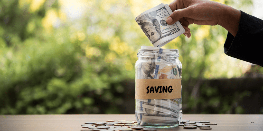 saving money collection graphic