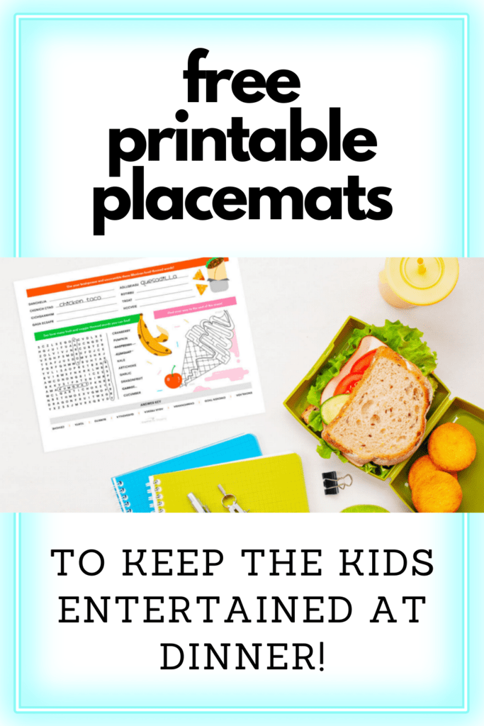 free printable placemats graphic