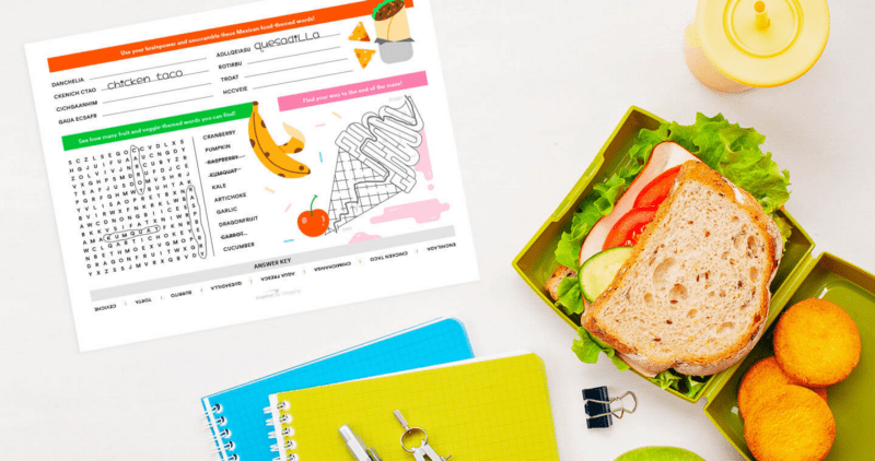 Free Printable Placemats for Kids mockup