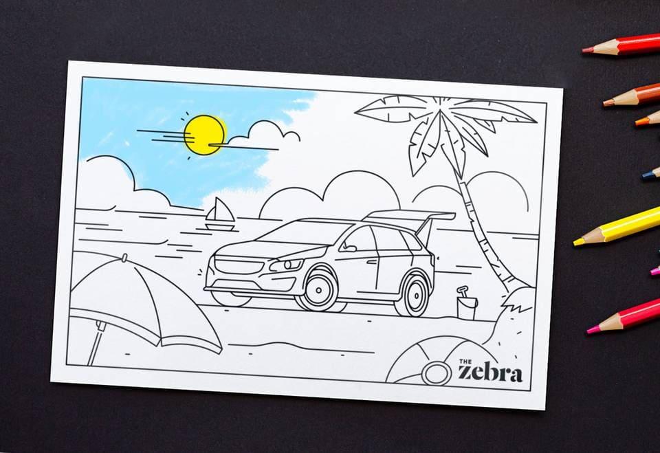 Printable Road Trip Postcards for Kids mockup graphic