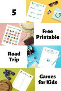 free printable road trip games graphic with mockups