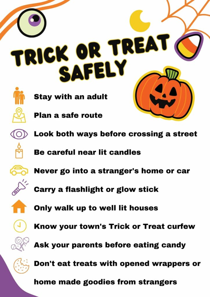 Trick or treat safely free printable